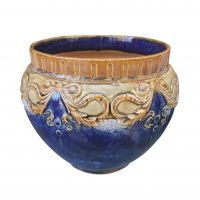 Royal Doulton art nouveau jardiniere, cobalt blue from Antik Seramika