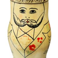 Tsarist 1940s 1950s single Matryoshka doll without inner dolls.
