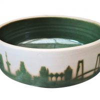 Heike Rabe Art Pottery bowl Rotterdam Skyline at Antik Seramika