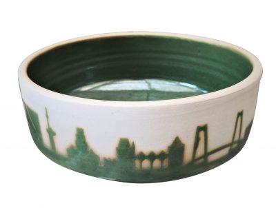 Heike Rabe Art Pottery bowl Rotterdam Skyline at Antik Seramika