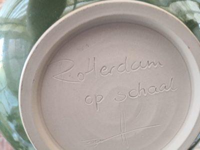 Heike Rabe Studio pottery Rotterdam skyline bowl - art pottery from Antik Seramika Essex UK