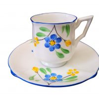 Art Deco Bell china demi-tasse coffee cup and saucer 1930s