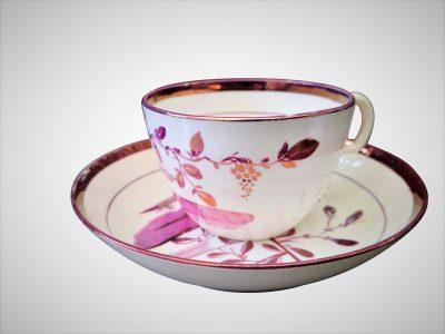Antique Sunderland Lustre teaware, antique pottery and porcelain