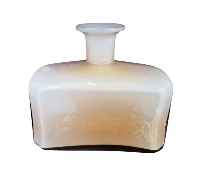 Art Deco 1930s pink cased glass rectangular bottle
