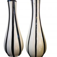 Mid-century 1950s retro West German pottery vases