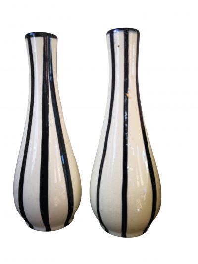 Mid-century 1950s retro West German pottery vases
