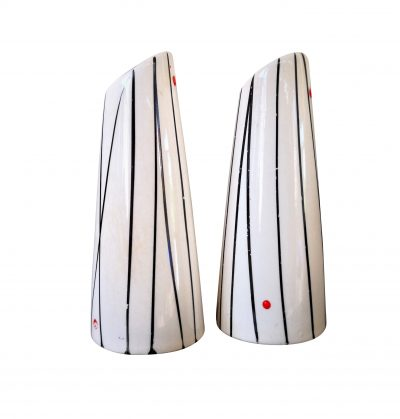 Mid-century retro salt and pepper pots
