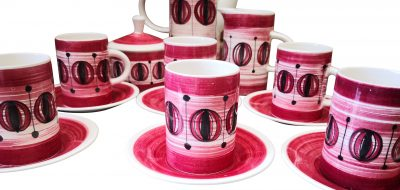 1960s 1970s Retro mid century coffee set - vintage pottery at Antik Seramika Essex UK