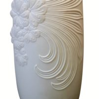 Kaiser bisque white porcelain vase with embossed detail