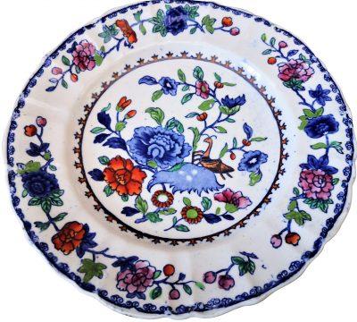 Antique Mason's patent ironstone Chinoiserie plate