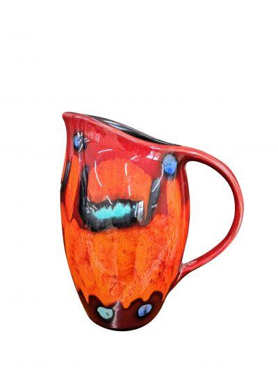 Retro Poole Pottery volcano vintage 1970s pottery jug