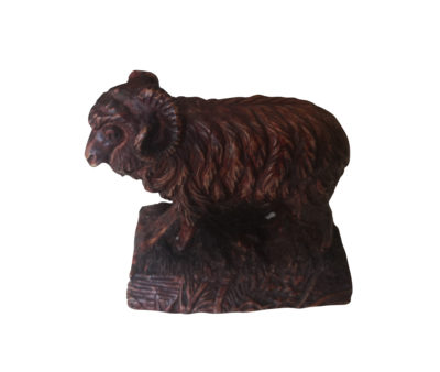 Antique Black Forest ram carving from Antik Seramika
