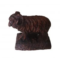 Antique Black Forest ram carving from Antik Seramika