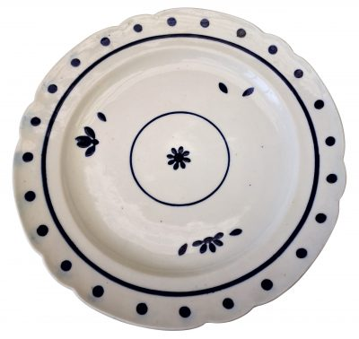 Antique Caughley blue and white plates 1810 - Antik Seramika