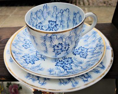 Royal Worcester Moss Fibre Antique Porcelain trio from a range of antique porcelain at Antik Seramika Essex UK
