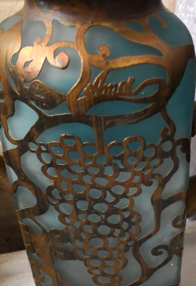 Anca Florea Podaru art glass vase from Antik Seramika Essex UK