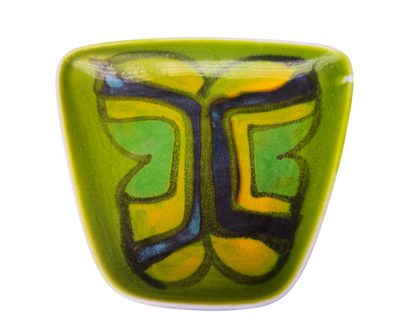 Poole Pottery retro Delphis green mid-century trinket dish