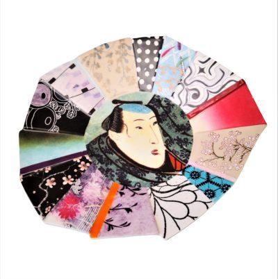 Fabienne Jouvin designer hand decorated shallow bowl oriental theme