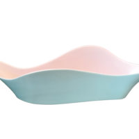 Poole Pottery twin tone curvy planter - retro mid-century 1970s pottery from Antik Seramika Essex UK