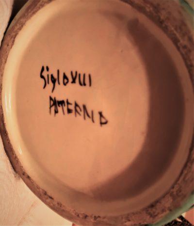 Spanish art pottery large hand painted apoethcary jar - Antik Seramika Essex UK