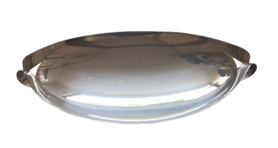 Pampaloni 925 silver modernist style large bowl with handles