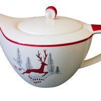 Mid-century retro modernist style Crown Devon Fieldings Stockholm teapot