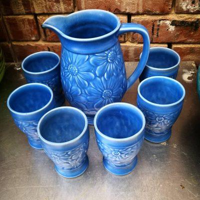 Beswick or Wade Heath 1930s art deco lemonade set - Antik Seramika UK