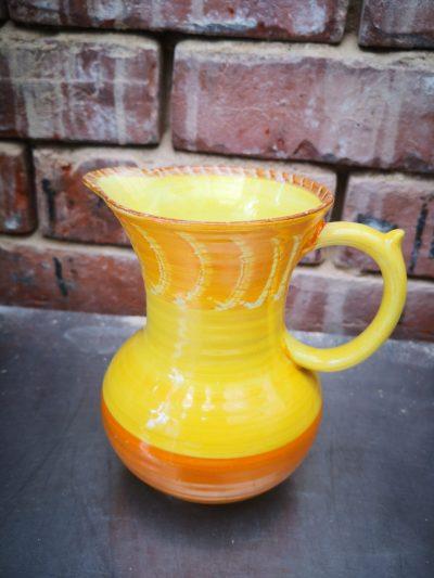 Art deco Shelley Harmony vintage pottery jug from Antik Seramika Essex UK