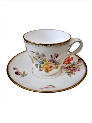 Utzschneider & Cie Sarreguemine antique cup and saucer - Antik Seramika