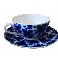 Rorstrand Mon Amie Scandinavian mid century art pottery retro cup and saucer
