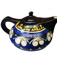 Vintage Jean de Bretagne french art pottery teapot from Antik Seramika Essex