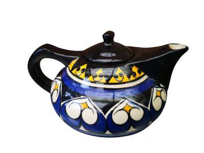 Vintage Jean de Bretagne french art pottery teapot from Antik Seramika Essex