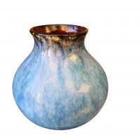 Vintage high drip glaze, studio pottery vase from Antik Seramika
