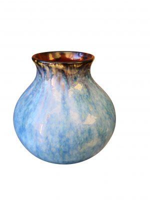 Vintage high drip glaze, studio pottery vase from Antik Seramika