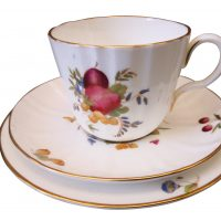 Royal Worcester Delecta vintage porcelain tea trio from Antik Seramika