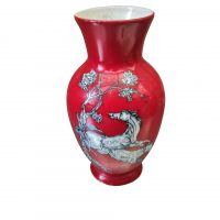 Vintage Crown Devon Fieldings small red pegasus vase - Antik Seramika vintage pottery