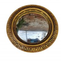 Antique Gilt and Plaster convex round mirror from a range of antiques at Antik Seramika