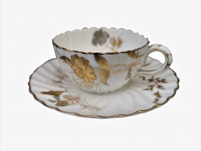 Antique bisto cup and saucer - Antique teaware from Antik Seramika
