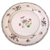 Copeland Spode Aest;hetic plate flowers and birds - Antik Seramika