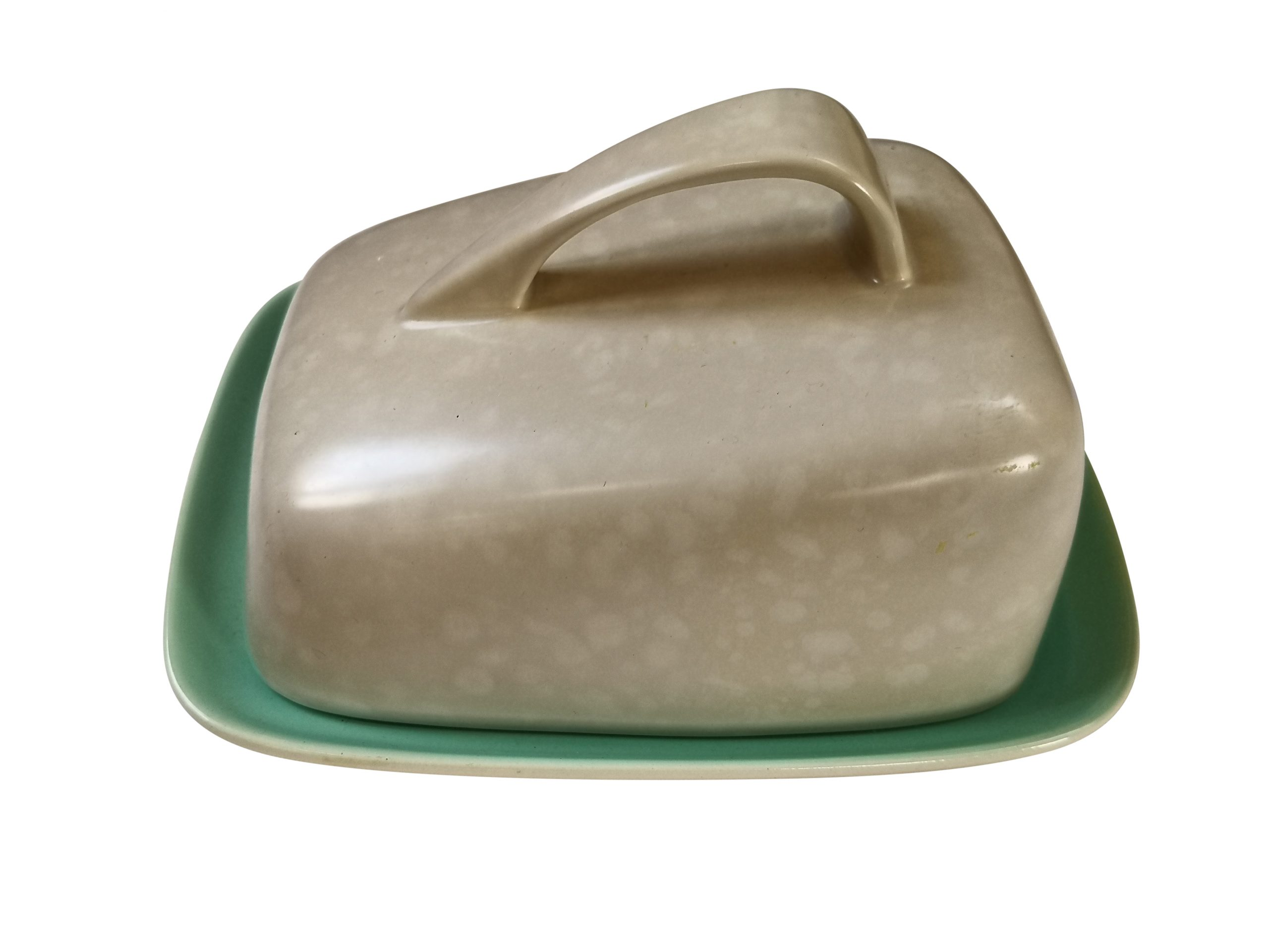 Poole pottery mid-century twin tone butter dish from Antik Seramika