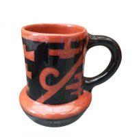 Vintage art pottery Masonic style decoration tankard from a range of Art pottery at Antik Seramika