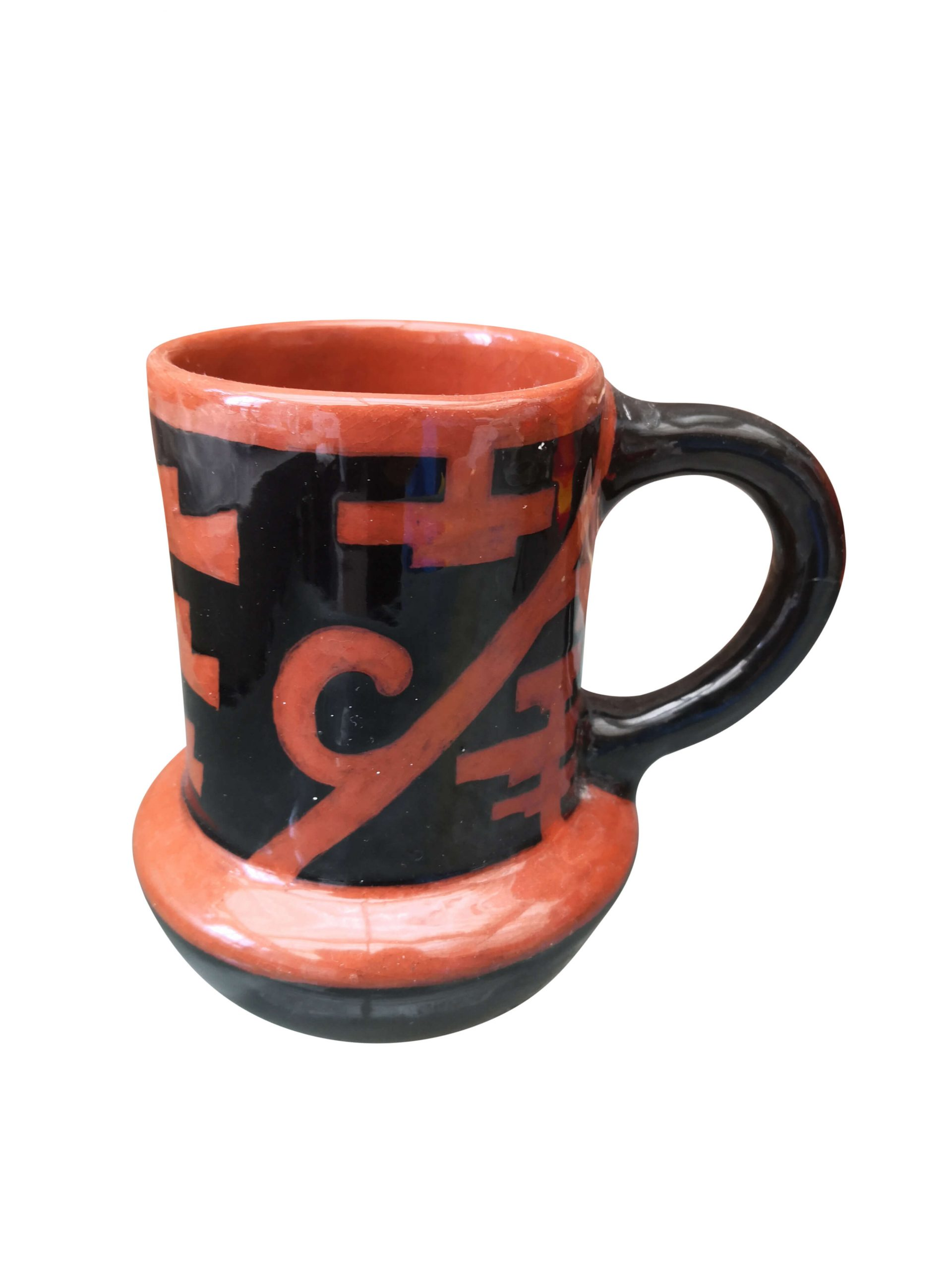 Vintage art pottery Masonic style decoration tankard from a range of Art pottery at Antik Seramika