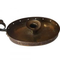 Antque brass oval Wee Wilie Winkie Candle holder from Antik Seramika