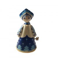 vintage Russian or Ukrainian wind up toy snow maidan - Antik Seramika