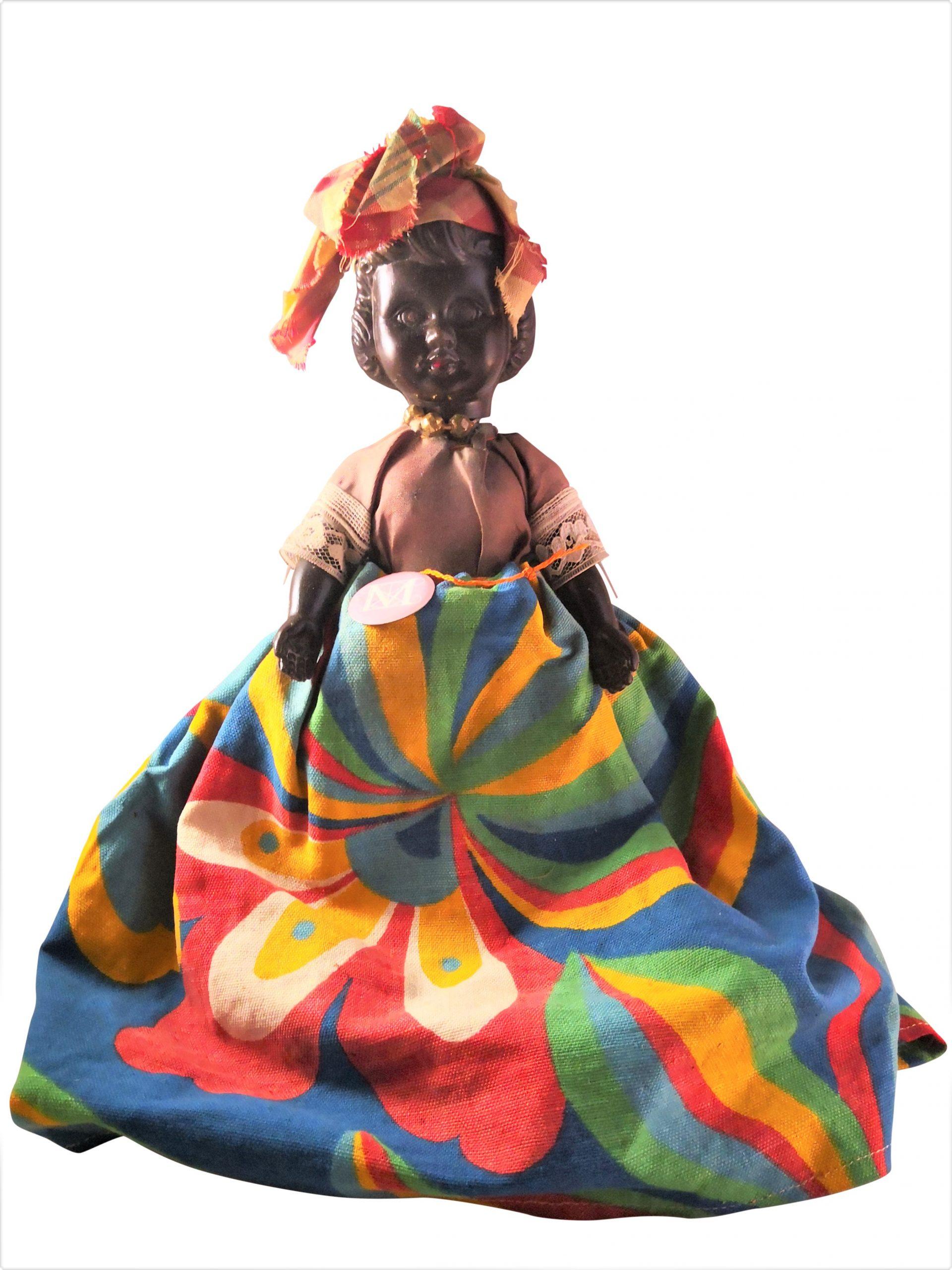Mid century vintage plastic ethnic African doll from Antik Seramika