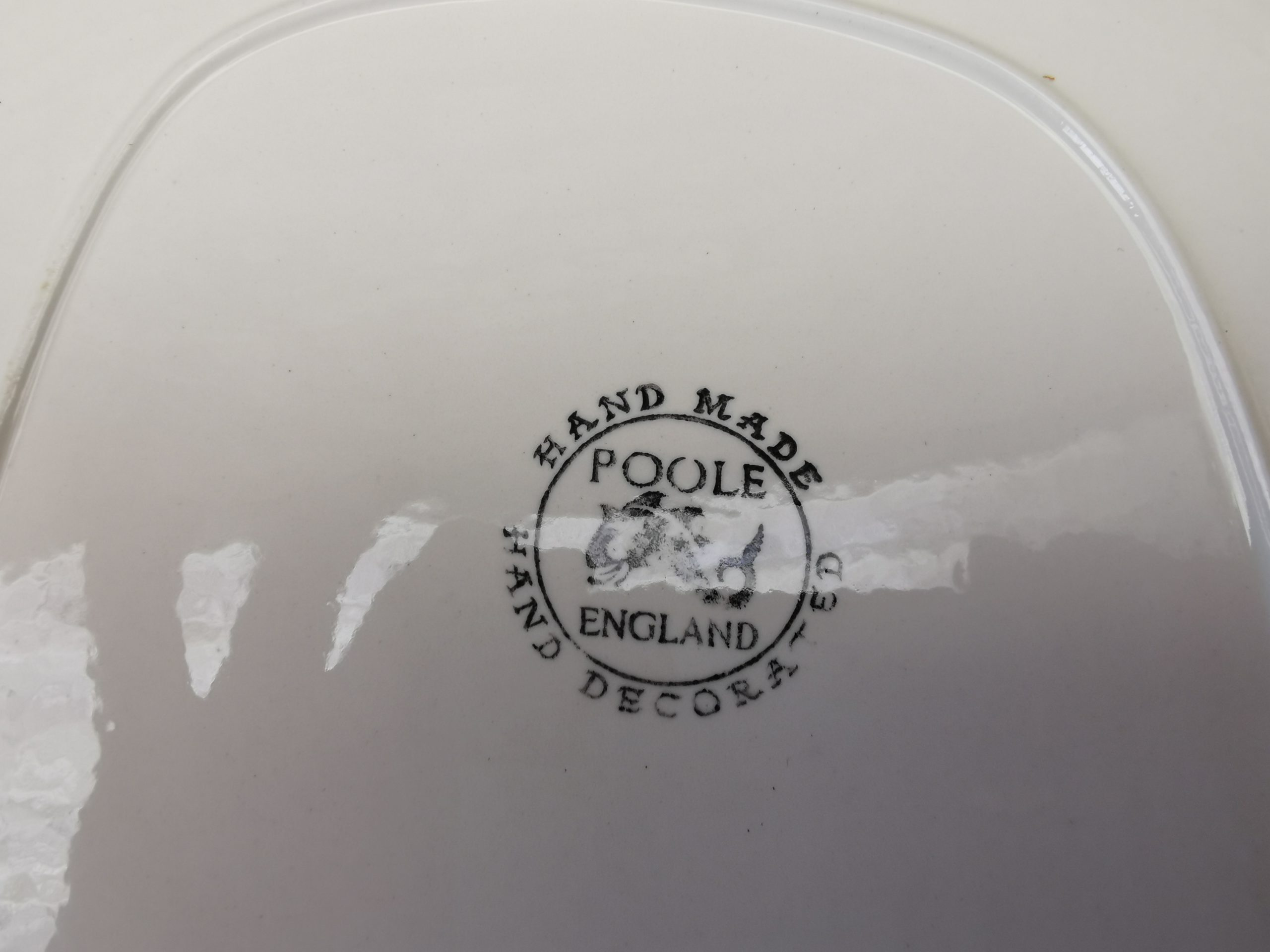 Backstamp for Poole Pottery Ripple Pattern by A Read.