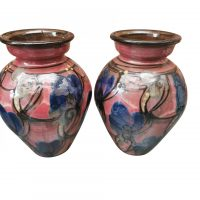 Pair of Art Nouveau Danico Danico Art Nouveau / Skønvirke Art Pottery Vases, Made in Denmark 1919-1929 from Antik Seramika