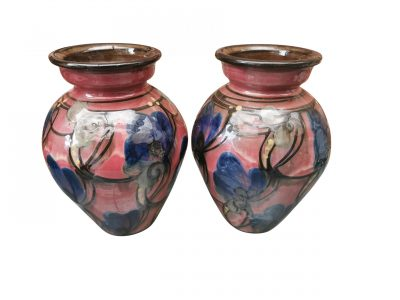 Pair of Art Nouveau Danico Danico Art Nouveau / Skønvirke Art Pottery Vases, Made in Denmark 1919-1929 from Antik Seramika