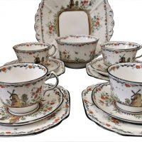 Art Deco 1930s Melba ware vintage part tea set from Antik Seramika
