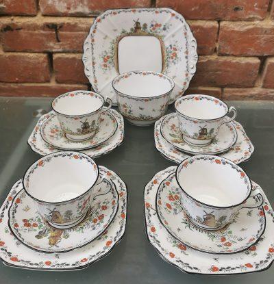 Melba Ware art deco tea set from Antik Seramika